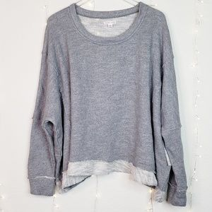 Melrose & Market | Grey Boxy Oversized Sweater